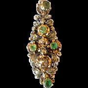 Late 18 Century Spanish Emerald and Diamond Pendant