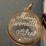 Mourning Jewelry, Memorial Jewelry, Sentimental?  Ball Locket, Victorian