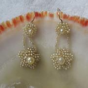 Seed Pearl Earrings, Victorian