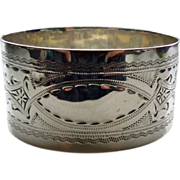 Sterling Silver Napkin Ring, Edwardian