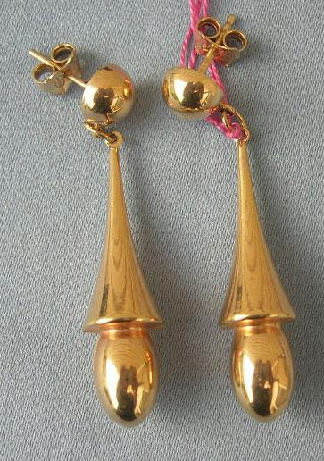 Gold Earrings, Late Victorian