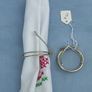 Napkin Ring, Silver, Wishbone, Victorian