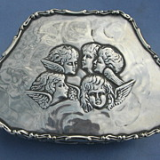 Silver (Sterling) Trinket Box, Edwardian, Reynolds' Angels