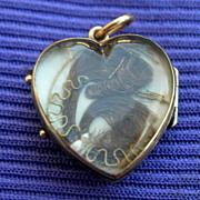 Heart Locket, Hair, Late Georgian