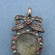 Georgian Heart Locket, Garnet, and Natural Pearls
