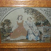 Berlin Woolwork petit point, framed, Early Victorian