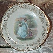 REDUCED Victorian Portrait Plate