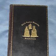 The Poetical Works of John Milton, Leather Bound Prize Book, Edwardian