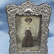 SALE PENDING Silver Frame, Edwardian, 5 1/2 by 8