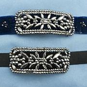 Cut Steel Buckle Set, Bracelet, Choker, Georgian