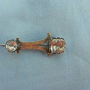 9 ct, Haley's Comet Brooch, Paste, Georgian