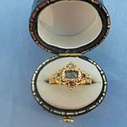 D E A R Memorial Ring, Hair, Diamond, Emerald,Amethyst, Ruby