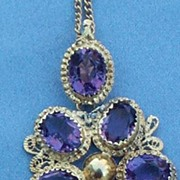 15 Ct Amethyst Pendant, Early Victorian
