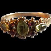 Chrysoberyl and ruby ring, Georgian