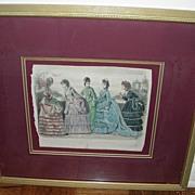 """Framed Print, """"Les Mondes Parisiennes, Peterson's Magazine, 1870"""