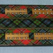 Tartan Cribbage Board, McLean, Victorian