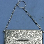Sterling Silver Card Case, Edwardian
