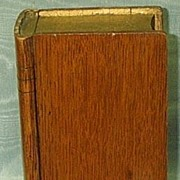 REDUCED Oak Collecting Box,  (Book) Victorian