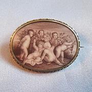 Cupid Miniature / Silver Case/Georgian