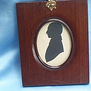 Silhouette of Johnny Crawford, 1843