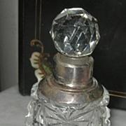 Perfume, Silver Neck, Edwardian, Cut Glass