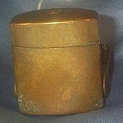 Traveling Inkwell, Brass, Victorian
