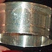 Silver Napkin Ring, Birmingham, 1931