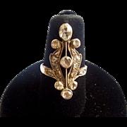 Rose Cut Diamond Ring, Victorian