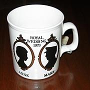 Princess Anne and Mark Phillips Wedding Mug