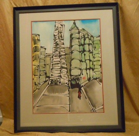 Transamerica pyramid San Francisco water color by Mark Luca