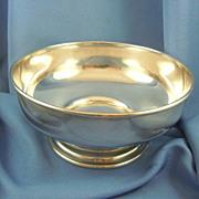 Gorham Spaulding footed sterling silver bowl