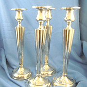 Candlesticks four matching sterling silver