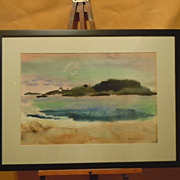 Jason Schoener Maine watercolor landscape American