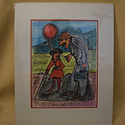 """Mark luca California artist """"if you let the balloon go, you won't get another one"""""""