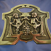 Brass book ends expands & contracts Art nouveau style