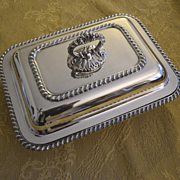 Gumps SF covered vegetable server silver plated