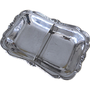 Vegetable server divided silver plate English
