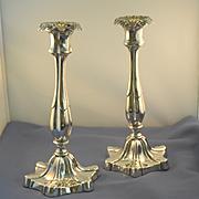 Art Nouveau candlesticks silver plate
