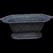 Victorian cast iron oblong garden planter
