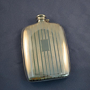 Hip flask sterling silver Napier 1930's