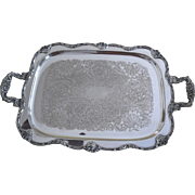 Mappin & Webb silver plated rectangular footed tray