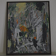 Abstract oil painting signed Austin Spaide