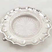 SOLD Antique Edwardian Sterling Silver Dish with Liner - 1904