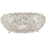 SOLD Large Antique Victorian Sterling Silver Bowl / Dish 1889 - 781 - Newcastle upon Tyne
