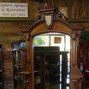 Walnut Dresser, Victorian Renaissance Revival, Marble Top