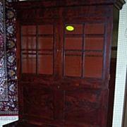 Mahogany Secretary Bookcase, Federal Period Empire, 1820-40, Signed
