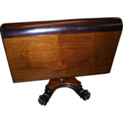 Mahogany Federal Empire Style Sutherland Table, Paw Feet