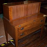 Mahogany Hepplewhite Style Desk with Tambour
