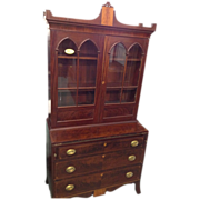 Mahogany Secretary with Bookcase, Federal Hepplewhite Period