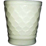 SALE Brody Quilted Diamond Pattern Milk Glass Vase